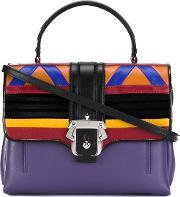 Paula Cademartori , Geometric Motif Satchel Women Leather One Size