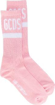 Gcds , Logo Socks Men Cottonpolyamidespandexelastane One Size