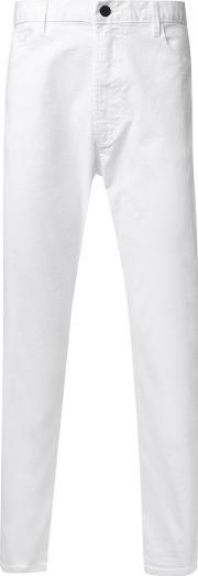 Bassike , 'stretch Universal Ii' Jeans Men Organic Cotton Xxl, White