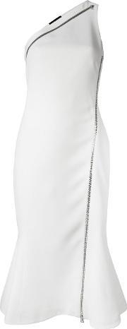 David Koma , One Shoulder Dress Women Acrylicspandexelastanelyocellviscose 8, Women's, White