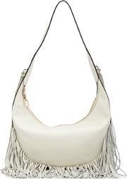 Elizabeth And James , Fringed Shoulder Bag Women Leather One Size, Women's, White