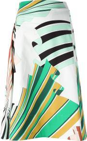 Emilio Pucci , Printed Skirt Women Cottonspandexelastane 40