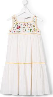 Ermanno Scervino Junior , Floral Embroidery Dress Kids Cotton 8 Yrs, Girl's, White