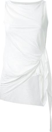 Forme Dexpression , Forme D'expression 'pleated' Tank Top Women Linenflax S, Women's, White