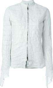 Isaac Sellam Experience , 'affamee' Jacket Women Linenflaxaligator Leather 38, Women's, White