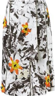 Isabela Capeto , Floral Embroidery Flare Skirt