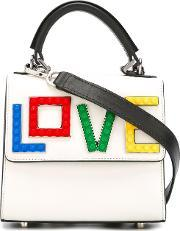 Les Petits Joueurs , Rainbow Love Crossbody Bag Women Leatherpvcmetal One Size, Women's, White