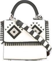 Les Petits Joueurs , Removable Strap Tote Women Leathermetal One Size, Women's, White