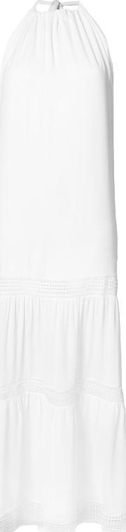 Nicole Miller , Geometric Cut Out Detail Dress Women Polyester M, Women's, White
