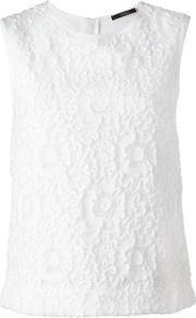 Odeeh , Floral Lace Sleeveless Top