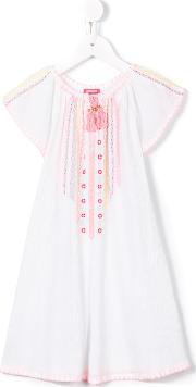 Sunuva , 'cheeseclotch' Dress Kids Cotton 11 Yrs, Girl's, White