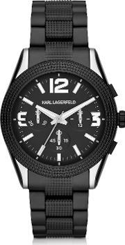 Karl Lagerfeld , Kurator 41 5 Mm Men S Chronograph Watch