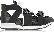 Vionnet ,  Leather And Elaph Pon Pon Sneakers