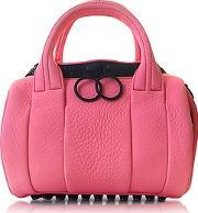 Alexander Wang , Fluo Coral Mini Rockie Leather Satchel