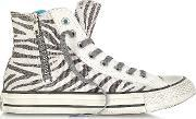 Converse Limited Edition , All Star High Top Animal Printed Canvas Zip Sneaker