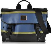 Paul Smith ,  Color Block Cotton Wleather Trim Men's Messenger Bag
