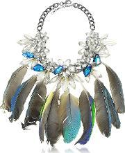 Anabela Chan , Crystals And Feathers Necklace