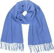 Coveri Collection , Fringed Solid Wool And Cashmere Pashmina