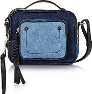 See By Chlo ,  Patti Denim And Black Leather Crossbody Bag