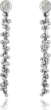 Orlando Orlandini , White Gold Cascade Drop Earrings Wdiamond