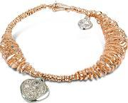 Orlando Orlandini , Galaxy Diamond Charm 18k Rose Gold Bracelet