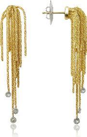 Orlando Orlandini , Flirt Diamond Drops 18k Yellow Gold Earrings