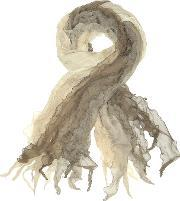 Coveri Collection , Ruffled Silk Stole