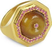 Sho London ,  Tiger's Eye Clementina Ring