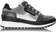 Dsquared2 ,  Gray Fabric And Leather Sneaker