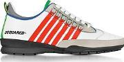 Dsquared2 ,  White And Red Leather Sneaker