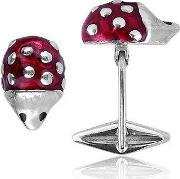 Forzieri Exclusives , Sterling Silver And Enamel Hedgehog Cufflinks