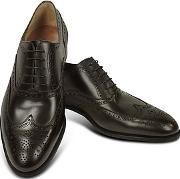 Fratelli Rossetti ,  Dark Brown Calf Leather Wingtip Oxford Shoes