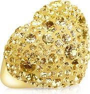Gis Le Stmoritz , Gis Le St. Moritz - Fantasmania - Gold Crystal Big Heart Ring