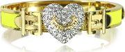 Juicy Couture , Pave Heart Neon Hinged Bangle