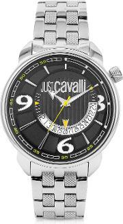 Just Cavalli , Earth Black Dial Date Watch