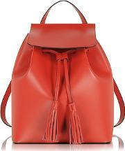 Le Parmentier , Red Leather Backpack