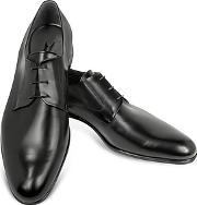 Moreschi ,  Liverpool Black Leather Derby Shoes