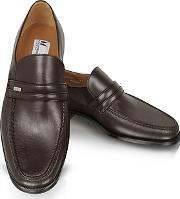 Moreschi ,  Monaco Brown Leather Loafers