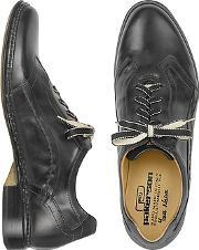 Pakerson ,  Black Italian Handmade Leather Lace-up Shoes