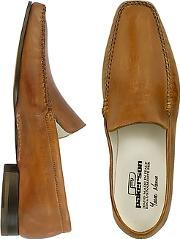 Pakerson ,  Brown Italian Handmade Leather Loafer Shoes