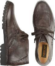Pakerson ,  Dark Brown Handmade Italian Leather Ankle Boots