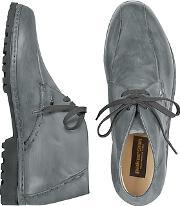 Pakerson ,  Gray Handmade Italian Leather Ankle Boots