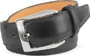 Pakerson ,  Men's Black Hand Painted Italian Leather Belt