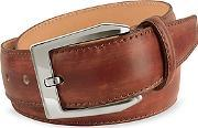 Pakerson ,  Men's Brown Hand Painted Italian Leather Belt