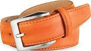 Pakerson ,  Men's Orange Hand Painted Italian Leather Belt