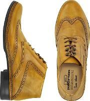Pakerson ,  Ocher Handmade Italian Leather Wingtip Ankle Boots