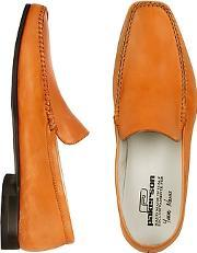 Pakerson ,  Orange Italian Handmade Leather Loafer Shoes