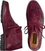 Pakerson ,  Wine Red Handmade Italian Leather Ankle Boots