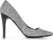 Proenza Schouler , Dragonfly Black And White Print Suede Pump