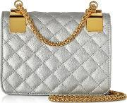 Roccobarocco , Idillio Silvertone Quilted Eco Leather Shoulder Bag